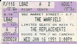 1991 The Replacements Live at the Warfield
