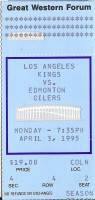 Oilers at Kings 1995