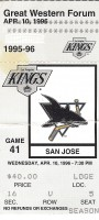 Sharks at Kings 1996