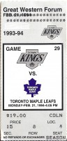 Maple-Leafs at Kings 1994