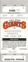 San Jose Giants Bakersfield Dodgers 1993