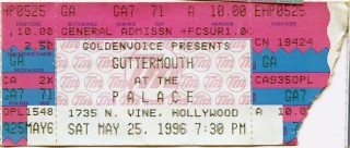 Guttermouth The Palace Hollywood 1996 stub