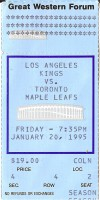 Maple Leafs at Kings 1995