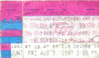 Lollapalooza 1997 Blockbuster-Pavillion  stub