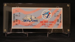 Toronto Blue Jays First Game At SkyDome stub
