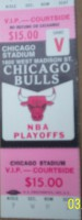Full unused Chicago Bulls playoff tickets