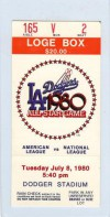 1980 All Star Game Los Angeles