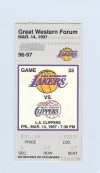 Clippers at Lakers 1997