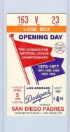 Padres at Dodgers 1979