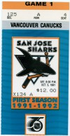 Sharks First Home Game