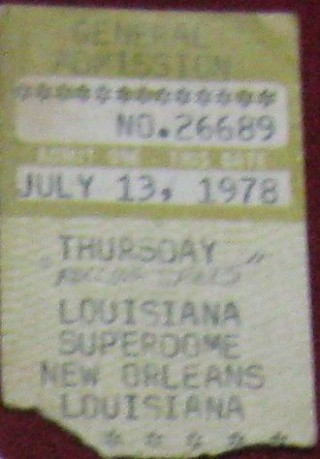 Rolling Stones 1978 New Orleans stub
