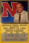 Middle Tennessee State at Nebraska 1992