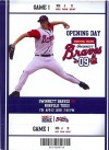 2009 Gwinnett Braves ticket stub vs Norfolk Tides
