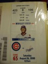 Cubs/ Dodgers Aug 26 2000 Chicago