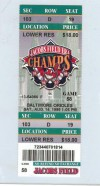 Orioles at Indians 1999