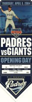 Petco Park first game – Padres v Giants