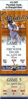2010 Lake County Captains ticket stub vs TinCaps