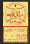 Batavia Clippers Vs Lockport Reds 4-30-47