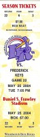 2004 Wilmington Blue Rocks ticket vs Frederick Keys