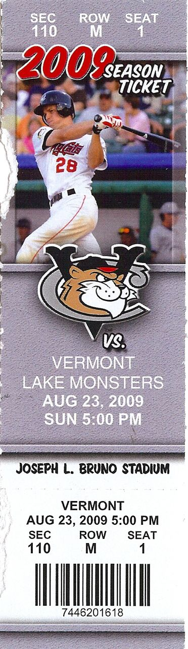2010 MiLB NY-Penn League Vermont Lake Monsters at Tri-City ValleyCats ticket stub