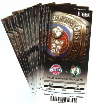 Celtics at Pistons 2009 stub