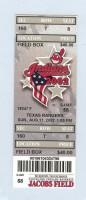 Rangers at Indians 2002