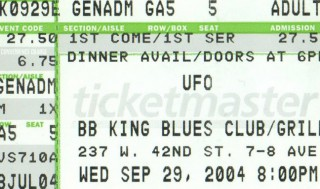 UFO at BB King Blues Club Grill NYC stub