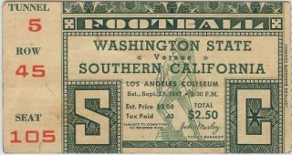 Washington State at USC 1947  stub