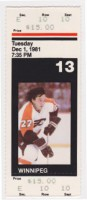 Jets at Flyers 1981