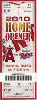 Twins at Angels 2010 Opener