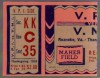 1939 NCAAF Virginia Tech at Virginia Military Institute ticket stub