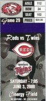 Twins at Reds 2000