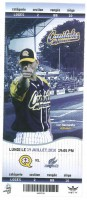 2010 Quebec Capitales ticket stub vs Sussex Skyhawks