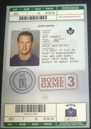 Senators at Maple Leafs Playoffs 2004  stub