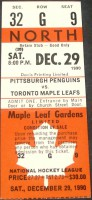 Penguins at Maple Leafs 1990