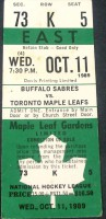 Sabres at Maple Leafs 1989