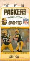 Saints at Packers 2006