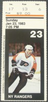 Rangers at Flyers 1983