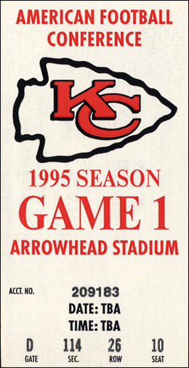 Kansas City Chiefs vs. Indianapolis Colts stub