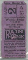 1920 World Series Game 5 ticket stub Robins at Indians