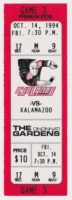 1994 IHL Cincinnati Cyclones ticket stub vs Kalamazoo