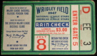 1947 All Star Game at Wrigley Field