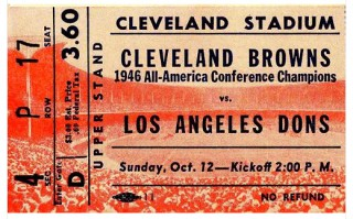 1947 Cleveland Browns at Los Angeles Dons