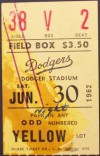 1962 Mets at Dodgers Koufax No Hitter