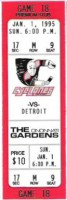 1995 IHL Cincinnati Cyclones unused ticket vs Detroit Vipers