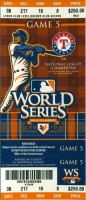 2010 World Series Game 5 ticket stub Giants at Rangers