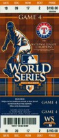2010 World Series Game 4 ticket Giants at Rangers