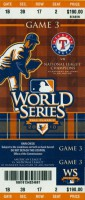 2010 World Series Game 3 ticket Giants at Rangers