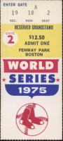 1975 World Series Game 2 ticket stub Reds at Red Sox
