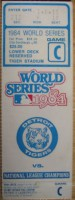 1984 World Series Game 3 ticket stub Padres at Tigers